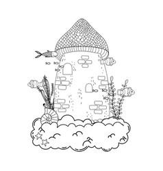 castle for aquarium decoration undersea vector image