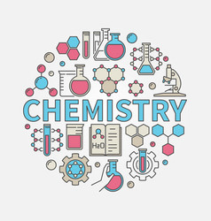 chemistry round colorful vector image