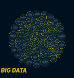Circular big data colorful vector