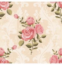 Classic rose pattern seamless wallpaper vector
