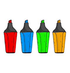 colored markers hand drawn sketch vector image