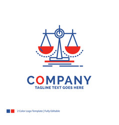 Company name logo design for balance decision vector