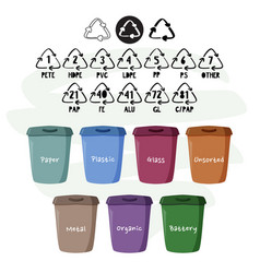 Containers for separate garbage collection reduce vector