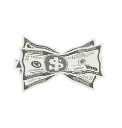 Crumpled dollar bills on vector