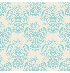 damask grunge seamless pattern vector image