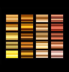 Different metal gradients set vector