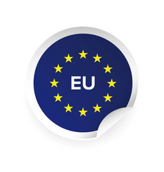 eu - european union logo sticker vector image