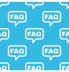 FAQ message pattern vector image