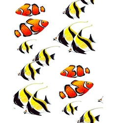 Fish Pattern6 vector image