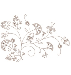 Floral pattern plant ornament vector image