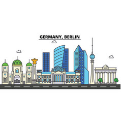 germany berlin city skyline architecture vector image