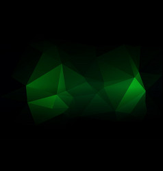 Glowing neon green low poly background vector