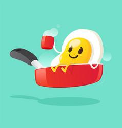 good morning smile for sweet breakfast vector image