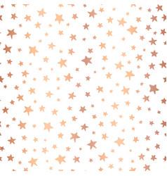 handdrawn stars rose gold foil background vector image