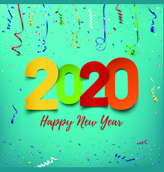 happy new year 2020 abstract design template vector image
