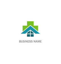 hospital medic cross business logo vector image
