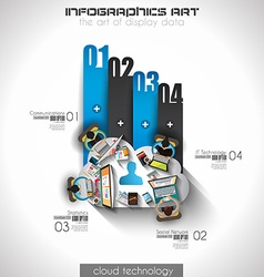 Infographic teamwork and brainsotrming with Flat vector image