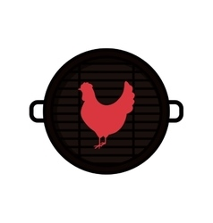 Isolated grill and chicken meat design vector