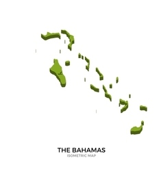 Isometric map of bahamas detailed vector