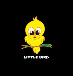 little bird image vector image
