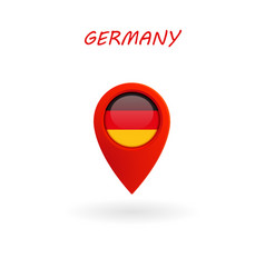Location icon for germany flag eps file vector