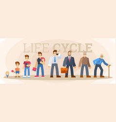 man character life cycle vector image