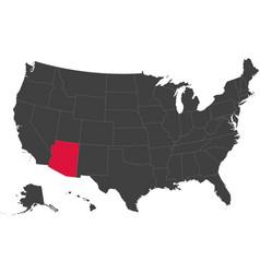 Map of usa - arizona vector