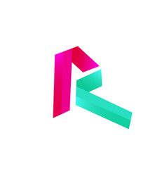 modern initial letter r vector image