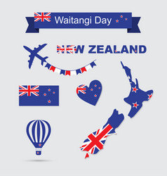 new zealand icons vector image