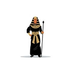 Pharaoh holding a staff vector image