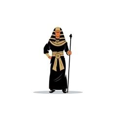 Pharaoh holding a staff vector