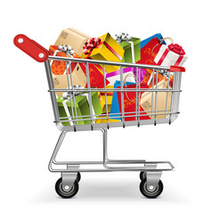 Presents in trolley vector