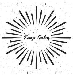Retro rays inscription keep calm vector