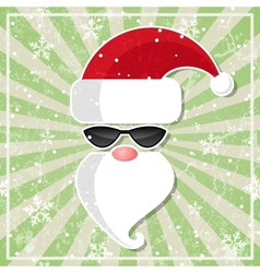 Santa in glasses with dark lenses vector image
