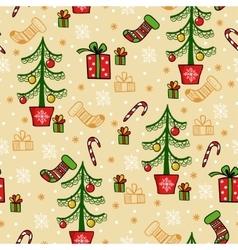 Seamless greeting christmas card vector