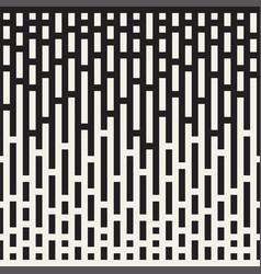 seamless irregular lines halftone black and white vector image