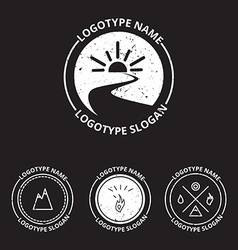 set of ecology logotypes icon and nature symbol vector image