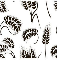 set of simple wheats ears icons pattern vector image
