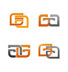 Set symbol for business logo design template vector