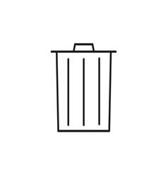simple trash icon vector image