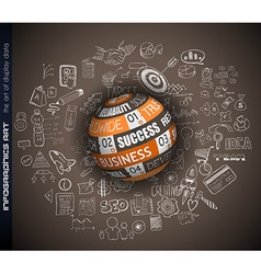 Success in business conceptual background with a vector