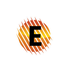 technology letter e vector image