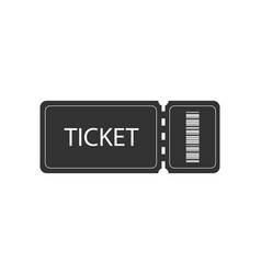 ticket icon on white background ticket icon with vector image