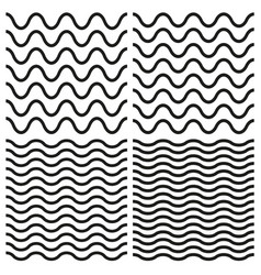 Tile seamless pattern wavy set vector