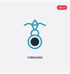 Two color threading icon from sew concept vector