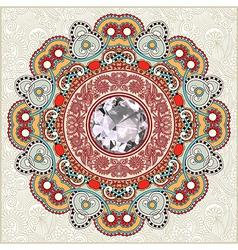 vintage template in floral background vector image