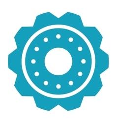 blue gear wheel engine cog icon vector image vector image
