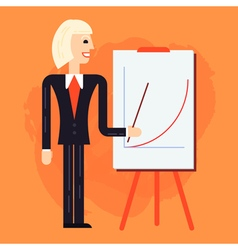 Business coach speaking vector image