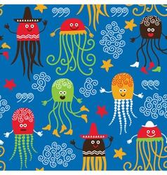 Cute octopuses vector