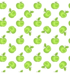 Seamless apple background pattern vector image vector image